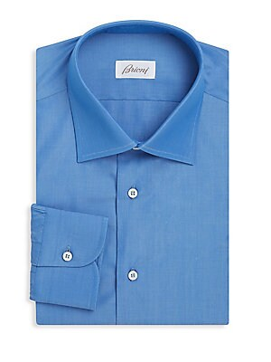 Long-Sleeve Cotton Dress Shirt