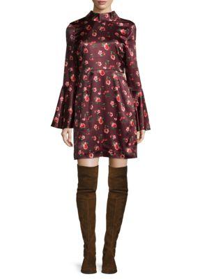 Printed Fit--Flare Dress Lea   Viola
