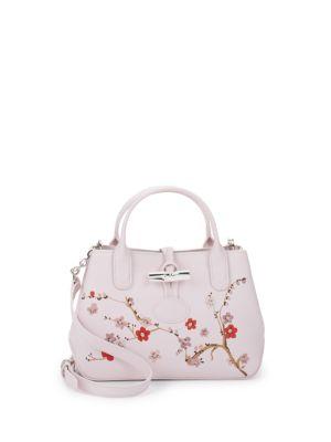 Roseau Sakura Floral Crossboy Bag Longchamp