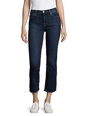 7 for all mankind female cropped boot jeans