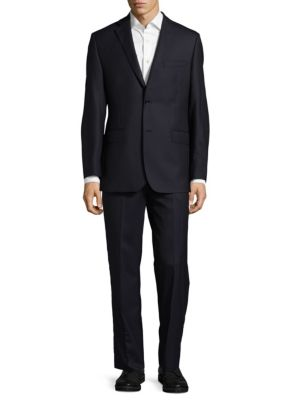 Pin Stripe Wool Suit Saks Fifth Avenue Made in Italy