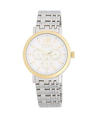 Manhasset Stainless Steel Link Bracelet Watch