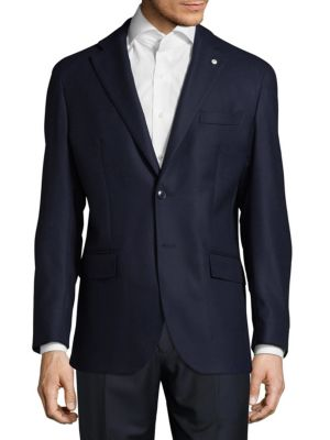 Modern Fit Textured Wool Sportcoat Lubiam