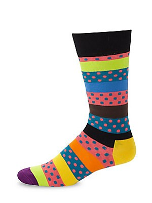 Dotted Stripe Socks