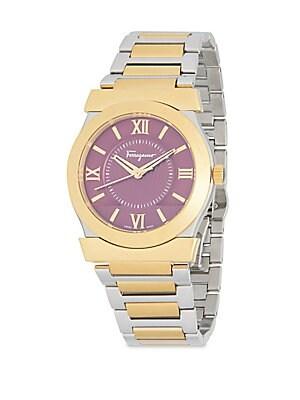 Goldtone Stainless Steel Quartz Bracelet Watch