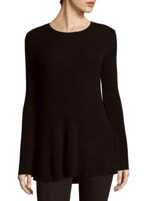 Crewneck Hi-Lo Sweater
