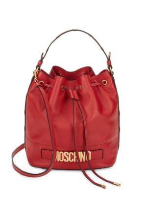 Studded Bucket Bag Moschino