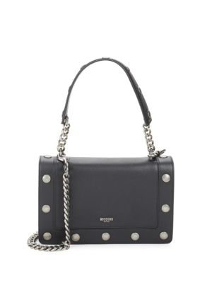 Studded Leather Shoulder Bag Moschino