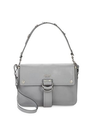 Magnetic Leather Shoulder Bag Moschino