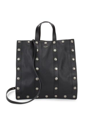 Studded Leather Tote Moschino
