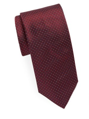 Dotted Narrow Silk Tie Brioni