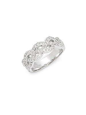 Click here for White Gold & Diamond Criss-Cross Ring prices