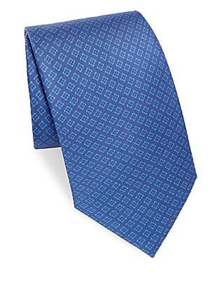 Textured Box Silk Tie