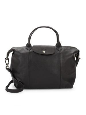 Le Pliage Cuir Leather Handbag Longchamp