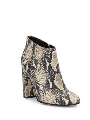 Campbell Printed Leather Ankle Boots Sam Edelman