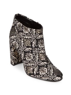Cambell Floral Leather Booties