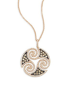 Click here for Diamond & 14K Rose Gold Solid Fill Chain Necklace prices