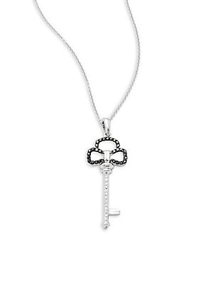 Click here for Diamond & 14K White Gold Solid Fill Chain Necklace prices