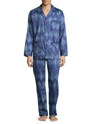 Paisley Cotton Pajamas Robert Graham