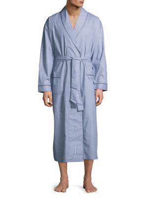 Patterned Cotton Robe Robert Graham