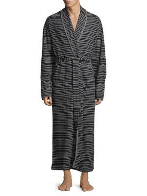 Striped Cotton Robe Robert Graham