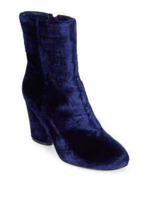 Nita Velvet Booties Saks Fifth Avenue