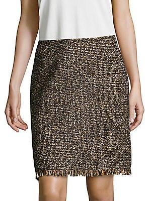 Fringed Zip Skirt