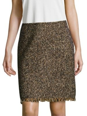 Fringed Zip Skirt Max Mara