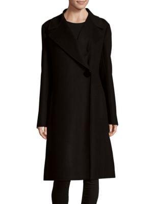 Woven Buttoned Coat Max Mara