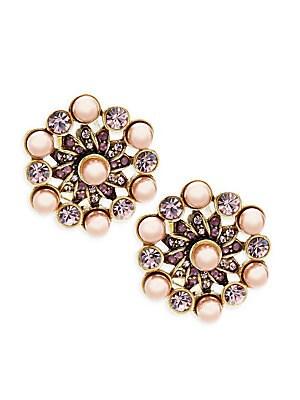 Aubergine Beaded Stud Earrings