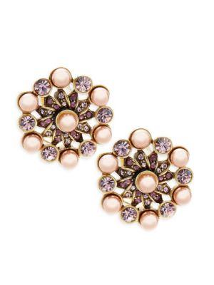 Aubergine Beaded Stud Earrings Heidi Daus