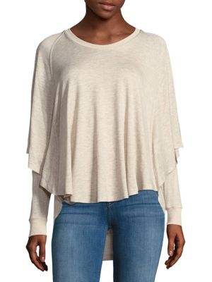 Oatmeal Stratified Top Saks Fifth Avenue BLUE