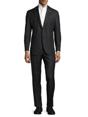 Herringbone Wool Suit Lubiam
