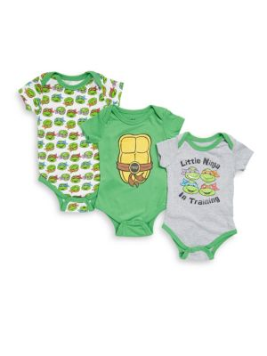 Baby's Three-Piece Ninja Turtle Bodysuit Set Nickelodeon