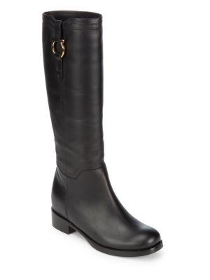 Slip-On Leather Boots Salvatore Ferragamo