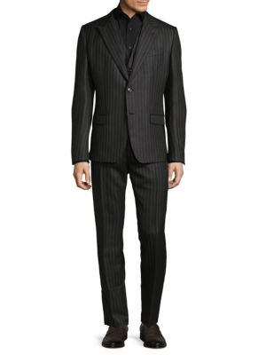 Vertical Striped Wool Tuxedo Dolce   Gabbana