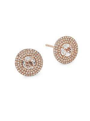 Jumbo Rose Gold Stud Earrings
