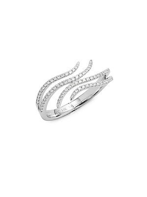 Click here for Double Wave Diamond & 14K White Gold Ring prices