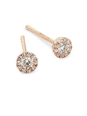 Mini Rose Gold Stud Earrings