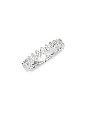 Click here for 14K White Gold Marquise Band Ring prices
