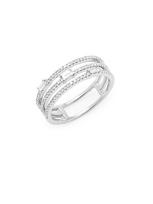 Click here for 14K White Gold and Diamond Cut-Out Ring prices