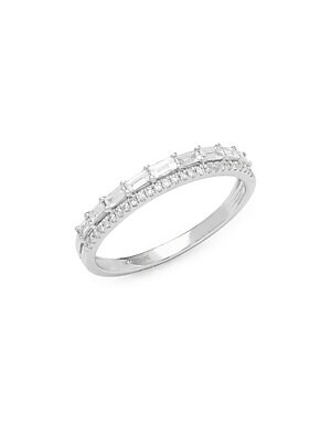 Click here for Stack & Style Diamond & 14K White Gold Ring prices