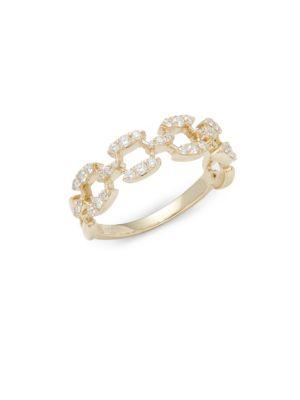 Stack  Style Diamond  14K Yellow Gold Ring KC Designs