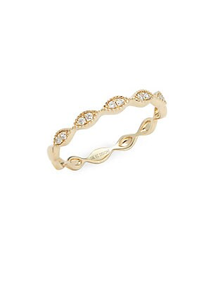 STACK & STYLE DIAMOND & 14K YELLOW GOLD RING