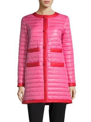 Two-Tone Puffer Coat Kate Spade New York