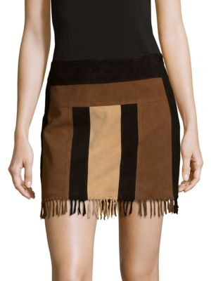 Stevie Leather Skirt Parker