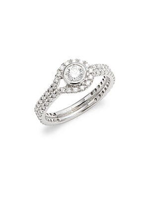 Click here for Silhouette Diamond & 18K White Gold Fancy Ring prices