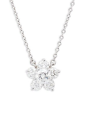 Click here for Cluster Diamond Tags Diamond & 18K White Gold Pend... prices
