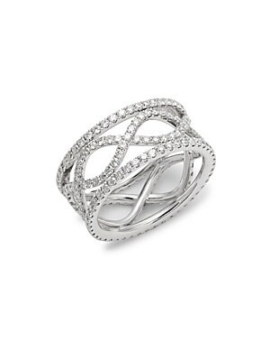 Click here for Wave Diamond & 18K White Gold Ring prices