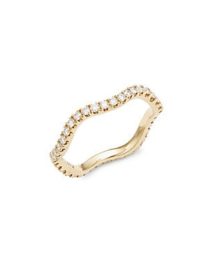 Click here for Wave Diamond & 18K Yellow Gold Wedding Ring prices